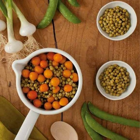 Petit-pois jeune carottes